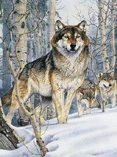 Wolf Pack Hunt Cross Stitch Pattern***L@@K***