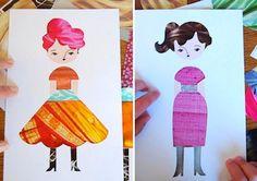 Bookhou Crafts fashion paper dolls