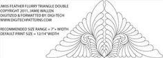 Feather Flurry Triangle 2 by Jamie Wallen JW05V1