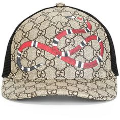 Shop Gucci Kingsnake print GG Supreme baseball hat from our Hats collection. 4daaf17789ac