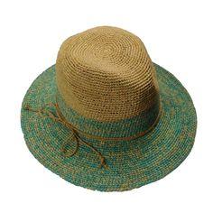Two Tone Raffia Floppy Safari Hat