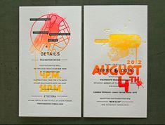 Letterpressed Invitations by Douglas Behl #letterpress #wedding #invitation
