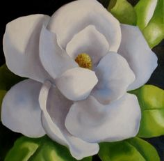 Delicate Magnolia, painting by artist Nel Jansen