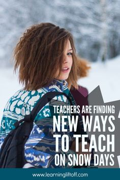 While snow days won't lead to many complaints from kids, these freebies can take a toll on learning and the school calendar. Instructional Planning, School Calendar, Snow Days, Student Success, Education College, 7 Habits, School S, Early Learning, Educational Technology