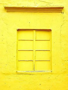 .yellow painted window.                t