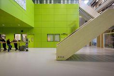 Image 8 of 23 from gallery of FOM Institute AMOLF / Dick van Gameren architecten. Photograph by Marcel van der Burg Science Park, Atrium, Facade, Stairs, Van, Gallery, Building, Marcel, Design