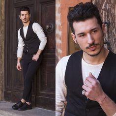 Alessio Convito - Zara Pants, Pull & Bear Gilet - Classy
