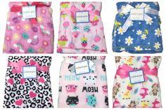 CUTIE PIE Baby GIRLS Blanket FLEECE Crib RAINBOW and FLOWERS / SWEET TREATS / DAISY FLOWERS / CHEETAH WITH HEARTS ANIMAL PRINT / KITTENS-CATS / MONKEYS - ELEPHANT - GIRAFFE #CutiePie