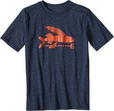 Patagonia Boy's Patagonia Fly Fishing T-Shirt Navy Blue XS