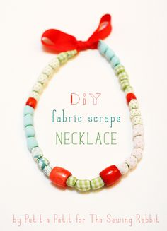 DIY Fabric Scrap Necklace - perfect stocking stuffer!