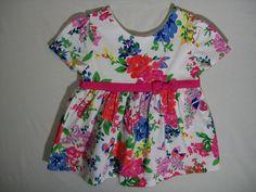 Hartstrings Girls Siz 4 Toddler Multi-Color Floral Tunic Everyday Short Sleeve  #Hartstrings