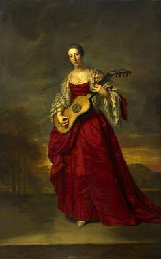 1750 Caroline Darcy, wife of William Kerr, Marquess of Lothian with guitar by Joseph Anton Adolf (National Galleries of Scotland, Edinburgh Scotland). From Titam et le beau siècle. Early Music, 18th Century Fashion, Women In Music, Chef D Oeuvre, Guitar Art, A4 Poster, Art Uk, Vintage Artwork, Sculpture