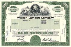 Warner-Lambert Stock
