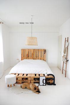 DIY Pallet Bedroom -just because of the pallet bed frame....