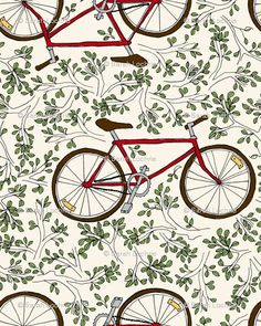 I would very much like a whole room wallpapered in bike wallpaper. And I don't even like wallpaper.