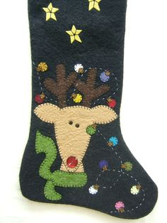 Unique Wool Felt Hand Made and Appliqued by MikeandMollyscrafts
