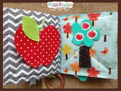 Apple harvest baby quiet book page. Baby Quiet Book, Quiet Books, Apple Harvest, Book Pages, Book Activities, Coin Purse, Coin Purses