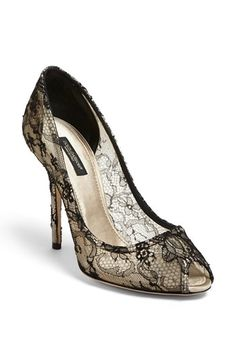Dolce&Gabbana 'Chantily' Lace Pump available at #Nordstrom