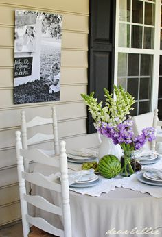Dear Lillie: Some Color on the Porch Part I, and our Love Is Pillow Covers in White
