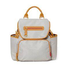 Skip Hop Grand Central Diaper Backpack - Black Stripes, French Stripes. Baby bags online