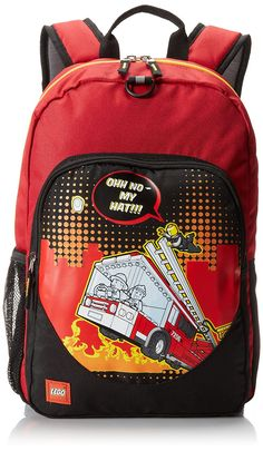 LEGO City Nights Backpack, Red, One Size  The LEGO Fire City Nights  Heritage Classic Backpack with its cool