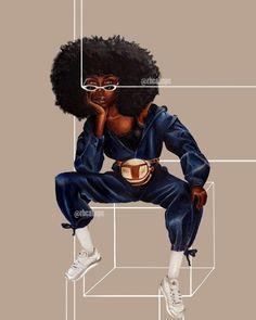 Black Girl Art, Black Women Art, Black Girl Magic, Black Girls, Art Girl, Ap Studio Art, Art Africain, Black Artwork, Afro Art