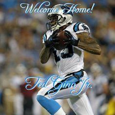 Welcome Home Ted Ginn Jr. Carolina Panthers  19 Nc Panthers bb63023ea