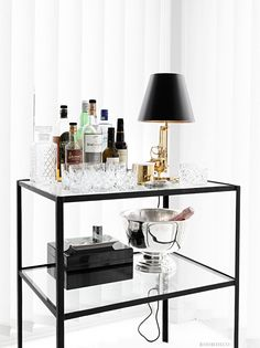 Interior Decorating Plans for your Home Bar Bar Cart Styling, Bar Cart Decor, Bandeja Bar, Mini Bars, Interior Decorating, Interior Design, My New Room, Bars For Home, Living Room Decor