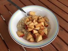 Watching your sugar intake? Try this delicious apple-cinnamon oatmeal and you won't even miss the sweet stuff. I promise.