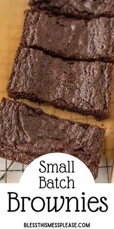 Small Batch Double Chocolate Brownies makes just enough for a romantic dessert for two. Rich, fudgy brownies for the win! #brownie #chocolate #smallbatch Easy Nutella Brownies, Double Chocolate Brownies, Fudgy Brownies, Chocolate Dipped Fruit, Best Chocolate Desserts, Vegetarian Chocolate, Delicious Desserts, Dessert Recipes, Delicious Food