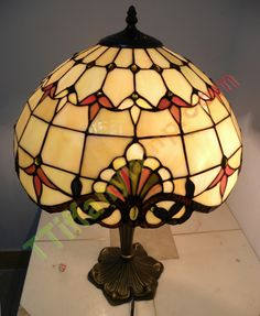 Amber-stained glass-table lamp-G1609003 - Tiffany Table Lamps - Tiffany Lamps China, China Tiffany Wholesale