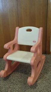 Vintage Little Tikes Child Size Victorian Rocking Chair Rocker Pink/white Euc