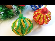 Foam Christmas Ornaments, Homemade Ornaments, Christmas Tree Toy, Christmas Holidays, Christmas Bulbs, Christmas Crafts, Ball Decorations, Christmas Decorations, Holiday Decor