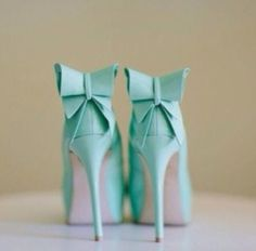 b009f386192 shoes blue high heels bows bows light blue high heels teal aqua aqua high  heels pumps