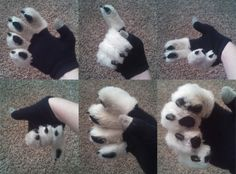 Fursuit+Handpaw+Gloves+Texting+Thumb+by+FenrisCrafts+on+Etsy,+$40.00