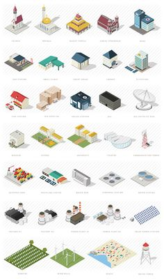 Isometric map builder elements: A massive collection of unique isometric… Isometric Map, Isometric Drawing, Isometric Design, Map Creator, Map Icons, City Illustration, Map Design, City Maps, Low Poly
