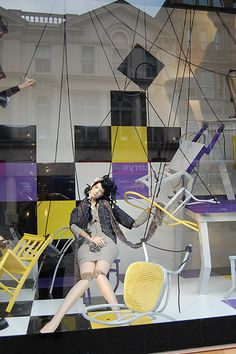 Window Visual Merchandising | VM | Window Display | Harvey Nichols Window Display in Leeds