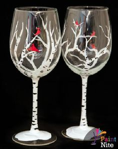 Paint Nite Hartfordnewhaven | Caral Lounge 02/17/2015 SPECIAL WINE GLASS PAINTING EVENT