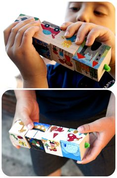 Frog in a pocket: Storytelling Cubes travel set.