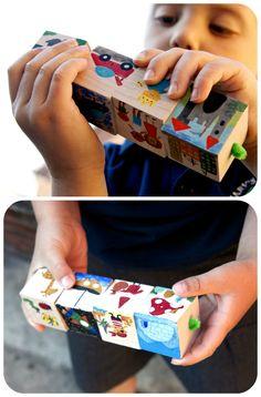 Frog in a pocket: Storytelling Cubes travel set.