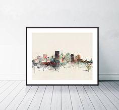 richmond city skyline .colorful pop art minimalist watercolor Wanderlust, Baltimore City, Painting & Drawing, Illustration, Pop Art, Watercolours, Poster, Minimalist, Skyline