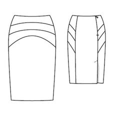 Tutorial – How to sew a back vent and lining for Burda skirt 116 ...