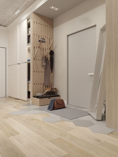 A superb one-bedroom apartment in Samara Bedroom Closet Design, Home Room Design, Home Interior Design, House Design, Home Entrance Decor, House Entrance, Home Decor, One Bedroom Apartment, Apartment Design