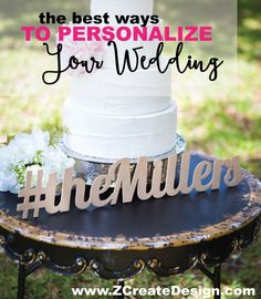 The cutest personalization options for the wedding - Look at this adorable hashtag sign!