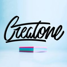 """Creatone is one of the 12 brushes including on the """"Lettering box"""" brush set - Download link in bio."""