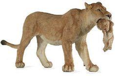Papo 50043 Lioness with Cub Model Wild Animal Lion Figurine Toy Replica NIP | eBay