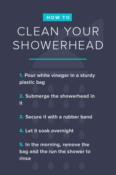 Give your showerhead the attention it deserves by soaking it once a year to remove deposits.