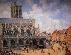 Camille Pissarro - The Church of St Jacques in Dieppe, Morning Sun, 1901, oil on canvas