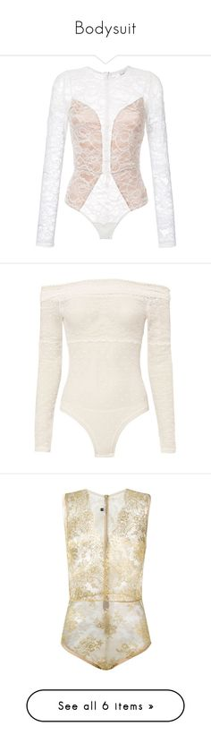 """Bodysuit"" by cupkatyk ❤ liked on Polyvore featuring intimates, shapewear, bodysuit, white, tops, body, bodysuits, gilda & pearl, grey and lingerie"