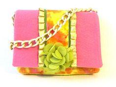 Unique Handbag // Pop of Yellow Purse // Fun Colors Pocketbook